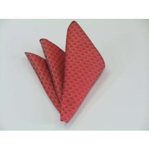 レッド(赤)市松模様ポケットチーフ(チーフ23cm) / PC-IT024|allety-y