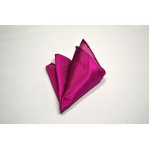 無地(縦ライン)/濃いローズピンクのソリッド(無地)ポケットチーフ(チーフ30cm) / PC-SO023|allety-y