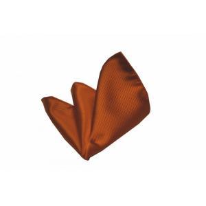 無地(縦ライン)/テラコッタ(明るいレンガ色)のソリッド・ポケットチーフ(チーフ30cm) / PC-SO028|allety-y