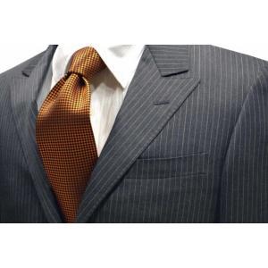 濃いオレンジのバスケット織・無地ネクタイ / MUT-B002|allety-y