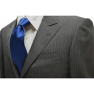ブルーのヘリンボーン・無地ネクタイ / MUT-H005|allety-y
