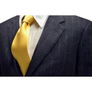 濃い黄色のバスケット織ネクタイ / MUT-B006|allety-y