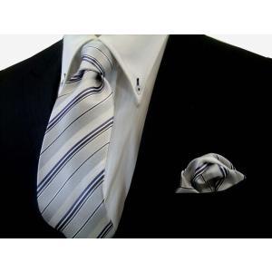 シルバーの濃淡と黒と青紫のストライプ(チーフ23cm) / 結婚式・披露宴・フォーマル・礼装/30%OFF/CSN-S100907|allety-y