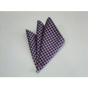 ピンク×パープルの千鳥格子ポケットチーフ(チーフ30cm) / PCN-TD002|allety-y