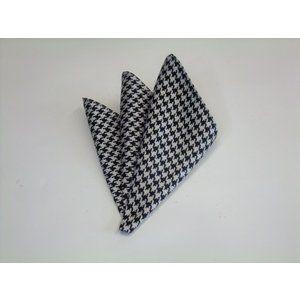 黒×きなりの千鳥格子ポケットチーフ(チーフ23cm) / PCN-TD001|allety-y
