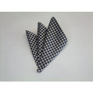 黒×きなりの千鳥格子ポケットチーフ(チーフ30cm) / PCN-TD001|allety-y