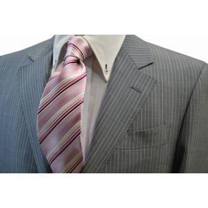 ピンク地に濃いピンクのグラデーションネクタイ / 結婚式・披露宴・フォーマル・礼装/STN-W13030|allety