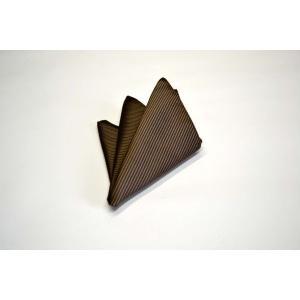 無地(縦ライン)/茶(ブラウン)・ソリッド(無地)ポケットチーフ(チーフ23cm) / 50%OFF/PC-SO003|allety