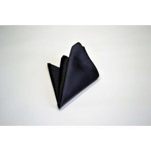 無地(縦ライン)/チャコールグレーのソリッド(無地)ポケットチーフ(チーフ23cm) / PC-SO006|allety