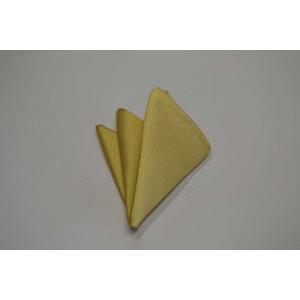 無地(縦ライン)/濃い黄色(薄いゴールド)のソリッドポケットチーフ(チーフ23cm) / PC-SO014|allety
