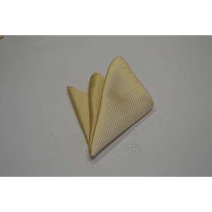 無地(縦ライン)/薄いイエローのソリッド(無地)ポケットチーフ(チーフ30cm) / PC-SO015|allety