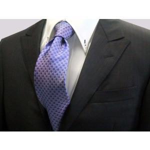 ブルー(青紫)市松模様ネクタイ / IT025|allety