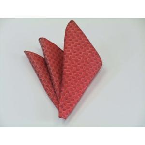 レッド(赤)市松模様ポケットチーフ(チーフ23cm) / 50%OFF/PC-IT024|allety