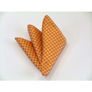 オレンジ市松模様ポケットチーフ(チーフ30cm) / PC-IT016|allety