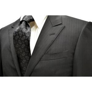 ブラックのペイズリー織柄・無地(ソリッド)ネクタイ / PEZ-004|allety