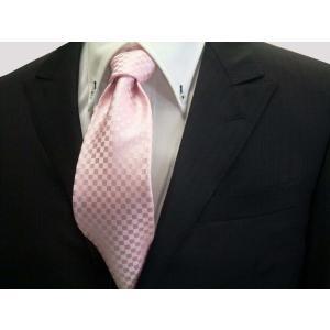 ピンク市松模様ネクタイ / 結婚式・披露宴・フォーマル・礼装/IT001|allety