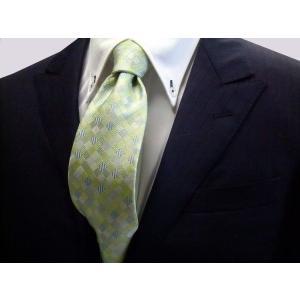 ライトグリーンのグラデーション(4色)の市松模様ネクタイ / ITG002|allety