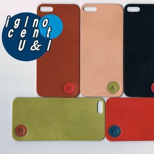 iPhone5s ケース カバー レザーシート ハンドメイド ブランド 正規品 本革 iglnocent イノセント 名入れバージョン 背面カバー スマホ裸族の方も|allfie