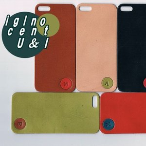iPhone5s ケース カバー レザーシート ハンドメイド ブランド 正規品 本革 iglnocent イノセント 名入れバージョン 背面カバー スマホ裸族の方も|allfie|03