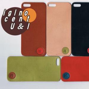 iPhone5s ケース カバー レザーシート ハンドメイド ブランド 正規品 本革 iglnocent イノセント 名入れバージョン 背面カバー スマホ裸族の方も|allfie|04