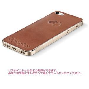 iPhone5s ケース カバー レザーシート ハンドメイド ブランド 正規品 本革 iglnocent イノセント 名入れバージョン 背面カバー スマホ裸族の方も|allfie|02