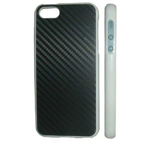 iPhone5カバー カーボン Whiteケース/Black carbon|allfolia