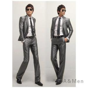 セットアップ スーツ メンズ 1つボタン サイドベンツ ビジネススーツ スリムスーツ 細身 入学式 卒業式 新生活 紳士 新生活 敬老の日|allforever