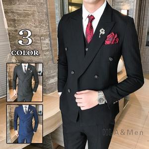 3ピーススーツ スリーピーススーツ メンズ ビジネススーツ ダブルスーツ 2つボタン 紳士 スリムスーツ 新生活 結婚式 二次会 就職 敬老の日|allforever