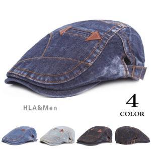 デニム 帽子 メンズ おしゃれ ハンチング ハット ハンチング帽 日よけ アウトドア メンズキャップ 敬老の日|allforever
