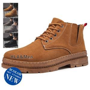 ブーツ メンズ ショートブーツ ミリタリーブーツ スエード ワークブーツ 革靴 防滑 アウトドア|allforever