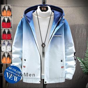 中綿ジャケット メンズ おしゃれ 中綿入り カラー配色 ジャケット アウター フード付き 冬物 allforever
