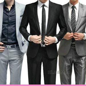 メンズ スリム 1ボタン スタイリッシュビジネススーツ 入学式 結婚式 卒業式 就職 紳士 パンツ+ジャケット 新生活 敬老の日|allforever