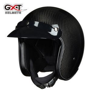 ジェットヘルメットハーフヘルメット  カーボンファイバー 炭繊維柄 PSC認証 2色 男女兼用