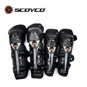 SCOYCO プロテクター 4点セット 肘 膝用 転倒防護 膝当て オフロードツーリング バイク ウ...