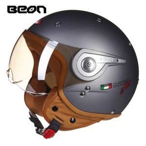 BEON-110A ジェットヘルメット ハーフヘルメット全8色 男女兼用 春夏秋冬