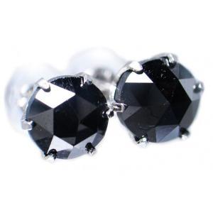 イヤリング ピアス pierced プラチナ Pt900 ローズ カット ブラック ダイヤモンド ダイヤ トータル 2カラット total 2.0 ct スタッド  レディース メンズ|alliegold|03