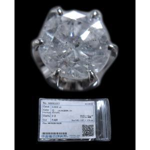 ピアス pierced シングル 片 耳 方 プラチナ Pt900 一粒 ダイヤモンド ダイヤ dia 0.8 カラット 0.80 ct 手作り 6 本 点 爪  レディース メンズ|alliegold|05