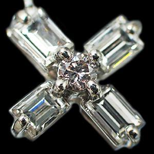 ペンダント ネックレス プラチナ Pt900 Pt850 バゲット カット ダイヤモンド ダイヤ 0.8カラット 0.8ct ピンク ダイヤ 十字架 クロス cross レディース 送料無料 alliegold 03