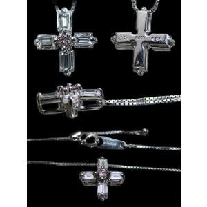 ペンダント ネックレス プラチナ Pt900 Pt850 バゲット カット ダイヤモンド ダイヤ 0.8カラット 0.8ct ピンク ダイヤ 十字架 クロス cross レディース 送料無料 alliegold 04