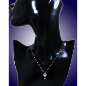 ペンダント ネックレス 18金 ホワイト ゴールド K18 WG ダイヤモンド ダイヤ レーザー ホール 十字架 クロス crossレディース 送料無料 新品 alliegold 04