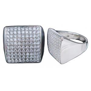 リング 指輪 プラチナ Pt900 上質 ダイヤモンド ダイヤ 角型 スクエア 印台 メンズ 送料無料 新品|alliegold