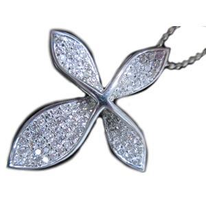 ペンダント ネックレス 18金 ホワイト ゴールド K18 WG ダイヤモンド ダイヤ 0.6カラット 0.6ct ツイスト ひねり 十字架クロス レディース 送料無料 新品|alliegold