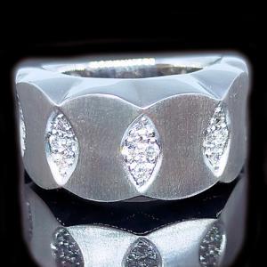 リング 指輪 18金 ホワイト ゴールド K18 WG 上質天然 ダイヤモンド ダイヤ 1カラット 1.0ct マット 艶消し 地金 ミラー 鏡面 ツートン メンズ レディース alliegold 02
