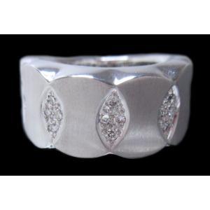 リング 指輪 18金 ホワイト ゴールド K18 WG 上質天然 ダイヤモンド ダイヤ 1カラット 1.0ct マット 艶消し 地金 ミラー 鏡面 ツートン メンズ レディース alliegold 03
