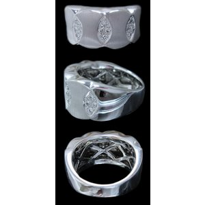 リング 指輪 18金 ホワイト ゴールド K18 WG 上質天然 ダイヤモンド ダイヤ 1カラット 1.0ct マット 艶消し 地金 ミラー 鏡面 ツートン メンズ レディース alliegold 04