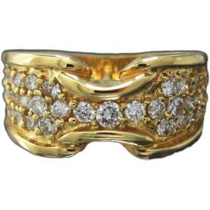 リング 指輪 18金 イエロー ゴールド K18 YG 上質天然 ダイヤモンド ダイヤ 1カラット 1.0ct 幅広 9mm ベルト 風 ワイド メンズ レディース 送料無料 新品|alliegold