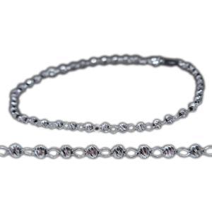 ブレスレット アンクレット プラチナ platinum Pt850 bracelet anklet 日本製 地金 マテリアル ミラー ボール フープ 18cm レディース 誕生日 記念 新品|alliegold