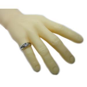 リング 指輪 中石 一粒 ダイヤモンド 1カラット 1.754ct 両腕 ブラック ダイヤ ライン 立体的 幅広 ワイド リング プラチナ Pt900 alliegold 08