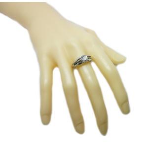 リング 指輪 中石 一粒 ダイヤモンド 1カラット 1.754ct 両腕 ブラック ダイヤ ライン 立体的 幅広 ワイド リング プラチナ Pt900 alliegold 09