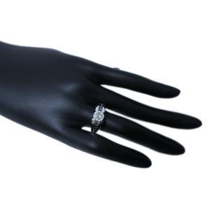 リング 指輪 中石 一粒 ダイヤモンド 1カラット 1.319ct 両腕 ブラック ダイヤ ライン 立体的 幅広 ワイド リング プラチナ Pt900|alliegold|08